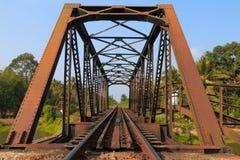Vías de ferrocarriles Imágenes de archivo libres de regalías