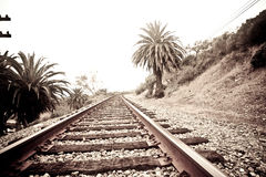 Vías del tren Imagenes de archivo
