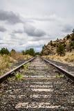 Vías del tren de ferrocarril Imagenes de archivo