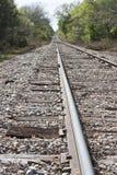 Vías del tren del país Fotografía de archivo