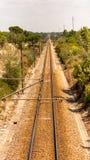 Vías del tren, ferrocarril Imagen de archivo