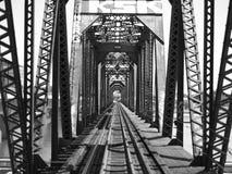 Vías del tren, Tempe, AZ Imagen de archivo libre de regalías