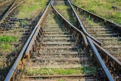 Vías viejas del tren Fotografía de archivo libre de regalías