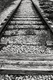 Vías viejas y abandonadas del tren fotografía de archivo