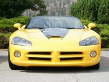 Víbora amarilla del coche de deportes Fotos de archivo libres de regalías