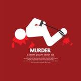 Víctima de asesinato por las manos y los pies atados ilustración del vector