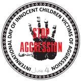 Víctimas inocentes de los niños de la agresión stock de ilustración