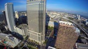 Vídeo aéreo céntrico 4k de Tampa la Florida almacen de video