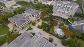 Vídeo aéreo da universidade internacional Miami de FIU Florida video estoque