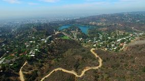 Vídeo aéreo de Hollywood Hills Califórnia filme