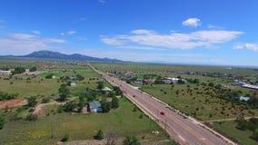 Vídeo aéreo de Santa Fe New Mexico almacen de video