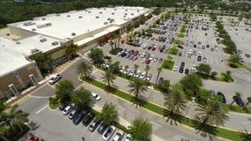 Vídeo aéreo de um shopping video estoque