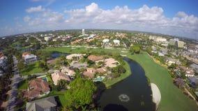 Vídeo aéreo do uhd de Boca Raton Florida 4k