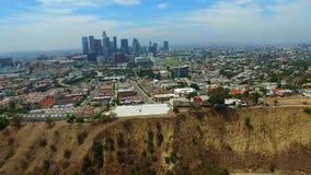 Vídeo aéreo Los Ángeles céntrico almacen de metraje de vídeo