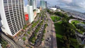 Vídeo aéreo Miami céntrica Biscayne almacen de video