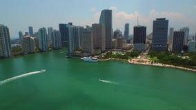Vídeo aéreo Miami céntrica FL almacen de video