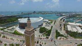 Vídeo aéreo Miami céntrica 4K almacen de metraje de vídeo
