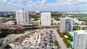 Vídeo aéreo Miami céntrica la Florida almacen de video