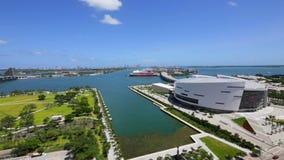 Vídeo aéreo Miami do centro