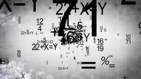 Vídeo agitado del fondo de los números de la matemáticas libre illustration
