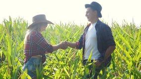 Vídeo agrícola elegante de la cámara lenta del concepto de la familia feliz del trabajo en equipo Manos de la sacudida de la much metrajes
