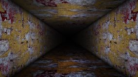 Vídeo agrietado del lazo del pasillo stock de ilustración