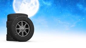 Vídeo animado das rodas ilustração stock