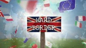 Vídeo británico de la bandera almacen de metraje de vídeo