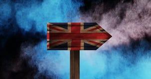 Vídeo británico de la bandera almacen de video