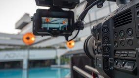 Vídeo câmera no aparelho de televisão foto de stock royalty free