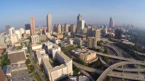 Vídeo céntrico de la antena de Atlanta Georgia almacen de metraje de vídeo