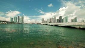 Vídeo céntrico de la cámara lenta de Miami metrajes