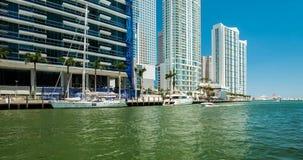 Vídeo céntrico del lapso de tiempo del río de Miami metrajes