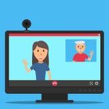 Vídeo call-07 Foto de archivo libre de regalías