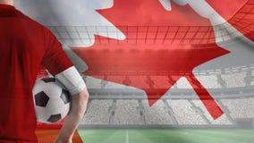Vídeo canadense da bandeira video estoque