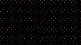 Vídeo colorido abstrato colorido do pulso aleatório do ruído video estoque