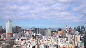 Vídeo común - paisaje urbano aéreo de Tokio almacen de metraje de vídeo