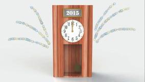 Vídeo completo del hd de la celebración 2015 del Año Nuevo ilustración del vector