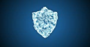 Vídeo conceptual de la seguridad de datos del escudo libre illustration