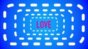 Vídeo curto do amor animado com sequências diferentes ilustração stock