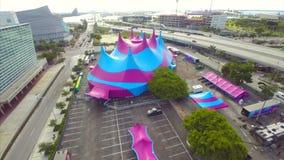 Vídeo da antena da tenda do circus video estoque