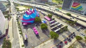 Vídeo da antena da tenda do circus vídeos de arquivo
