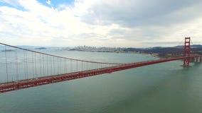 Vídeo da antena de golden gate bridge vídeos de arquivo
