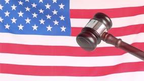 Vídeo da bandeira americana ilustração royalty free