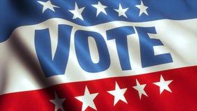 Vídeo da bandeira da eleição dos EUA do voto - 4K ilustração do vetor