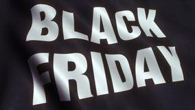 Vídeo da bandeira da venda de Black Friday - 4K ilustração stock
