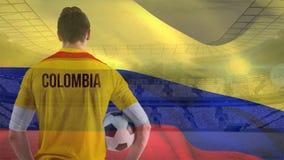Vídeo da bandeira de Colômbia vídeos de arquivo