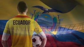 Vídeo da bandeira de Equador ilustração do vetor