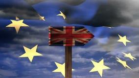Vídeo da bandeira da UE video estoque