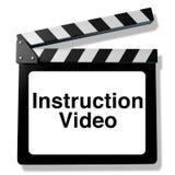 Vídeo da instrução Foto de Stock